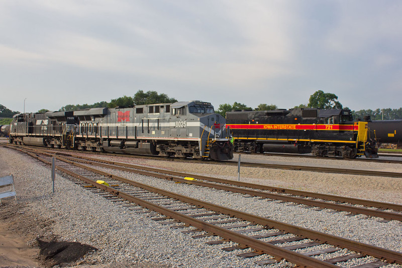NS 8025 (Monongahela)  SISW at Silvis, IL.  July 10, 2015