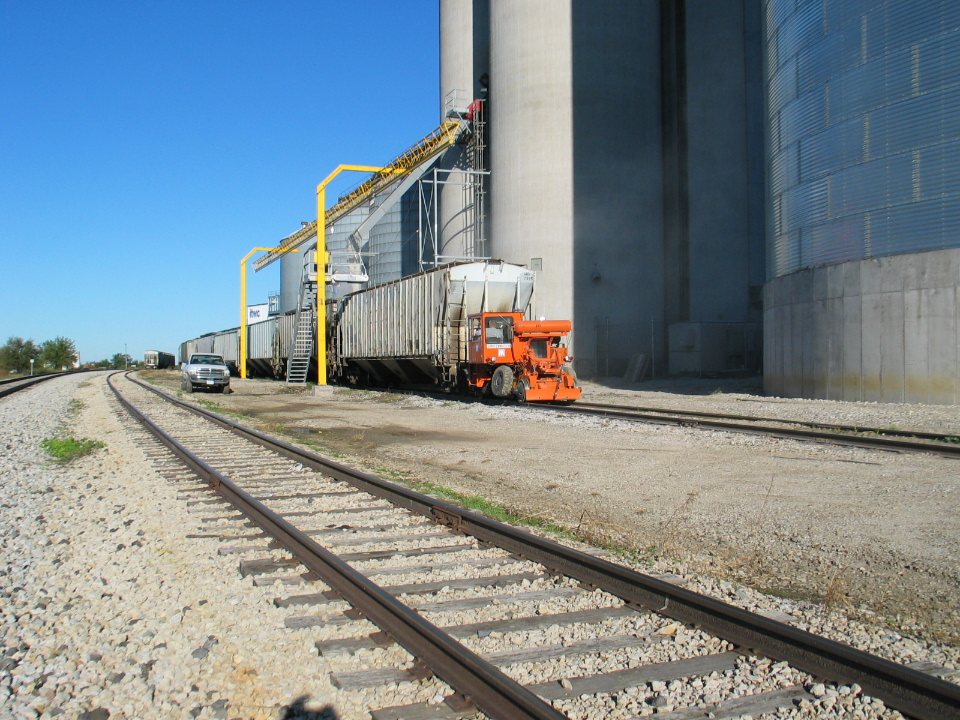 Loading grain cars at Malcom.