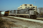 GE sent IAIS some of the Super 7-23B demonstrator units during late 1990.  These are ex-WP U23B units that have been completely rebuilt and upgraded.  Here are 2000 and 2002 at Joliet, IL, during October 1990.