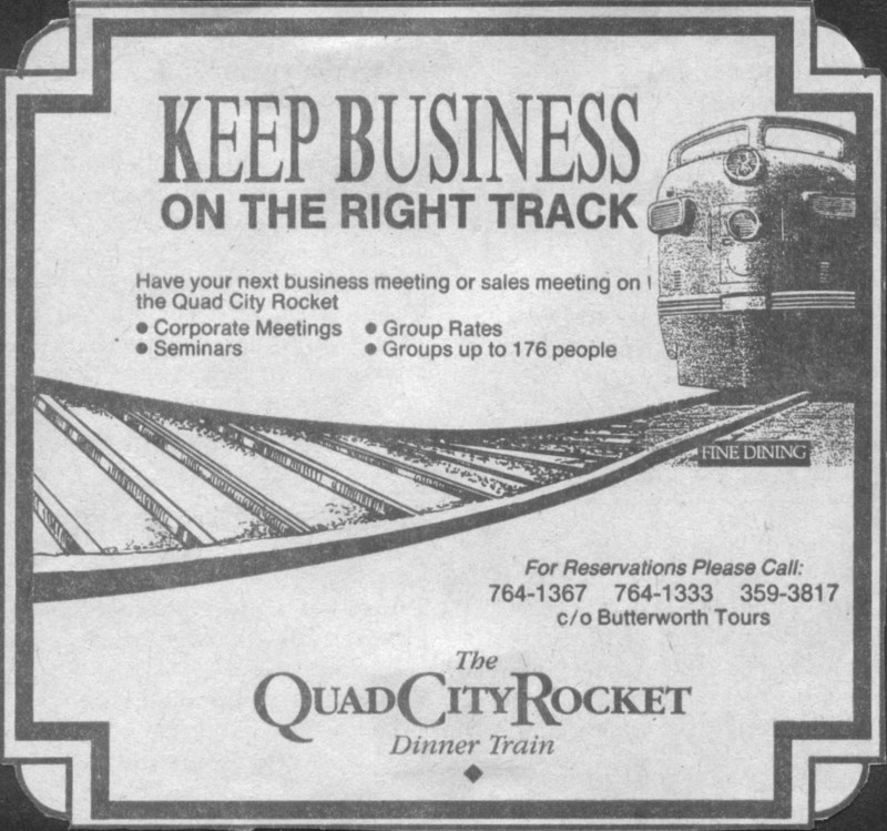 Another ad that appeared in the Quad City Times
