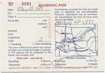 The back of the reservation postcard, showing the times and boarding location