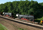 Here's a view of the QJ's from the IL Rte 5 overpass at Silvis, IL on 27-Jun-2006.