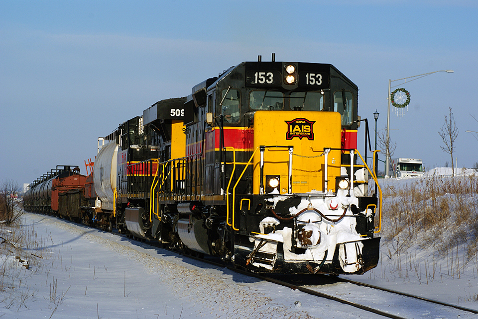 153 and 509 on the CBBI at Coralville, Iowa.