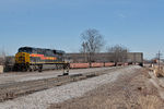 BICB-03 pulls down the BN main with several empty 3-packs up front.  Rock Island, IL.