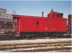 The caboose was later renumbered IAIS 9431 to avoid conflicting with the locomotive 431.  Taken in Blue Island, IL.