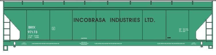 Incobrasa covered hopper decals from Jerry Glow, jerryglow@comcast.net .
