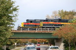 SD38-2s on ICCR and #400 on ICSW pause on Gilbert St bridge