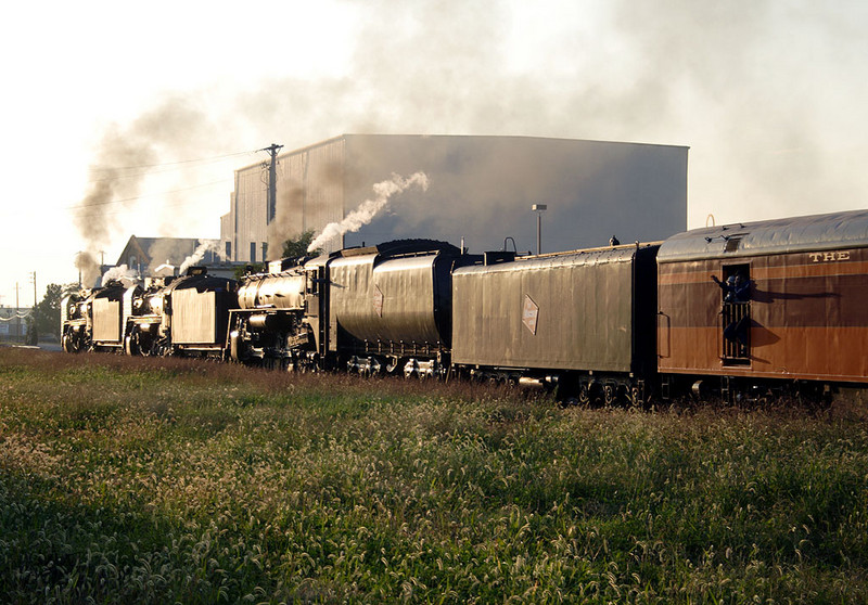 The excursion heads west into the setting sun in Moline, IL.