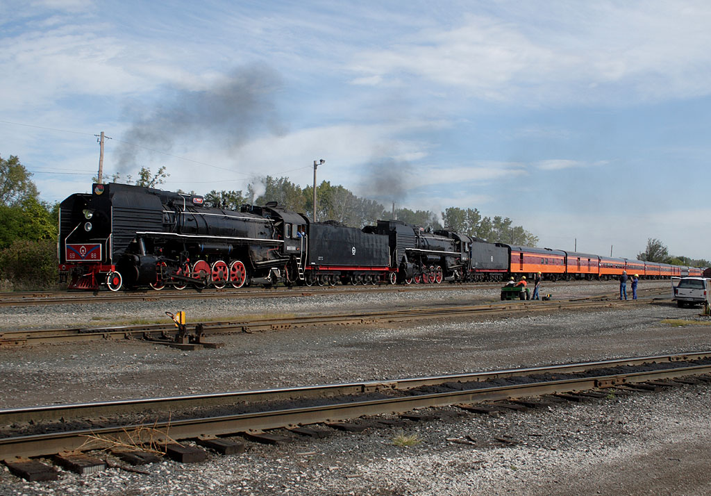 The excursion heads south through IC&E's Nahant Yard in Davenport, IA.