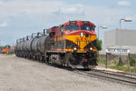 KCS 4687 brings an empty syrup train from the CP into Rock Island, IL.
