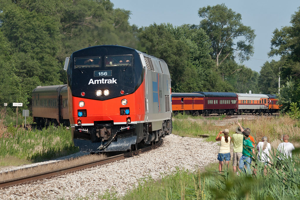 The Amtrak special from Chicago enters the IAIS at Colona, IL.