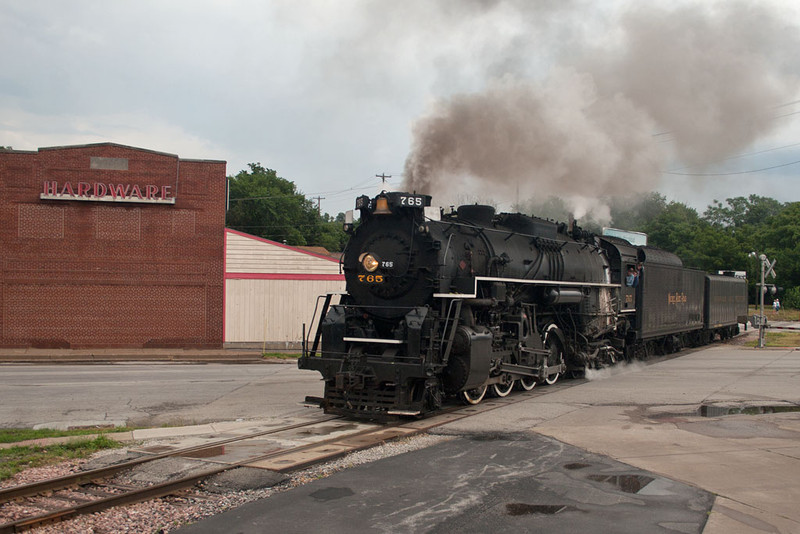 NKP 765 at 4th & Division in Davenport.