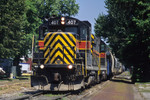#407 leads a BICB down 5th Street - Davenport, Iowa July, 14th 1999.