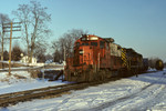 Another view of #469 on the #011 westbound at Bureau, Illinois - February 28th, 1993.