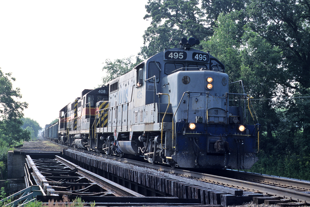 #495 on RIIC at Davenport, Iowa June 10th, 1999.