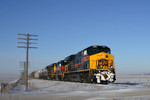 #505 brings up the Iowa City turn towards Walcott, Iowa 01/16/08.