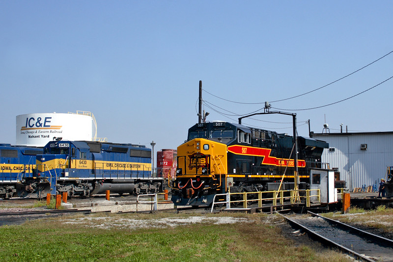 #507 on the turntable at IC&E's Nahant Roundhouse - Davenport, Iowa 09/26/08.