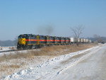 West train at mp 213, Dec. 21, 2005.