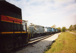 Westbound RI turn is ready to leave N. Star (mp 210.9, Moscow) after setting out the Wilton switch engine.  May 18, 2005