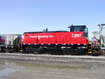 Coors (CORX) 997, a new switcher headed for the brewery at Golden, CO, on 5-Apr-2003