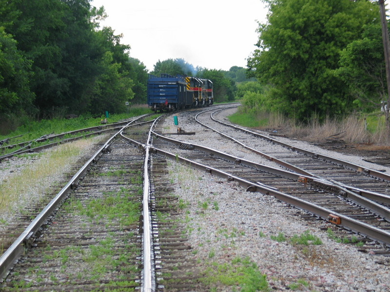 West train is departing Atlantic, June 20, 2006.