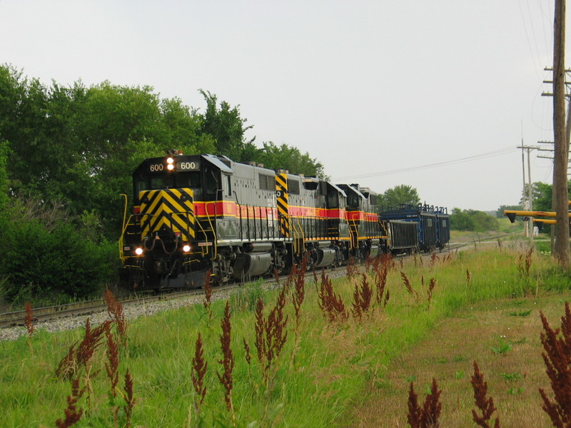 Westbound coming into McClelland, June 20, 2006.