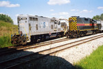 Engines 495 and 716 at the JM switch.  Aug. 16, 2005