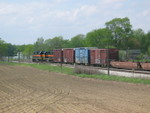 West train leaving the west end of N. Star siding, May 1, 2006.