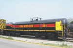 Converted from former IAIS Geep #466 is slug 650, mated up with 601 at Rock Island, Illinois June 17th, 2007.