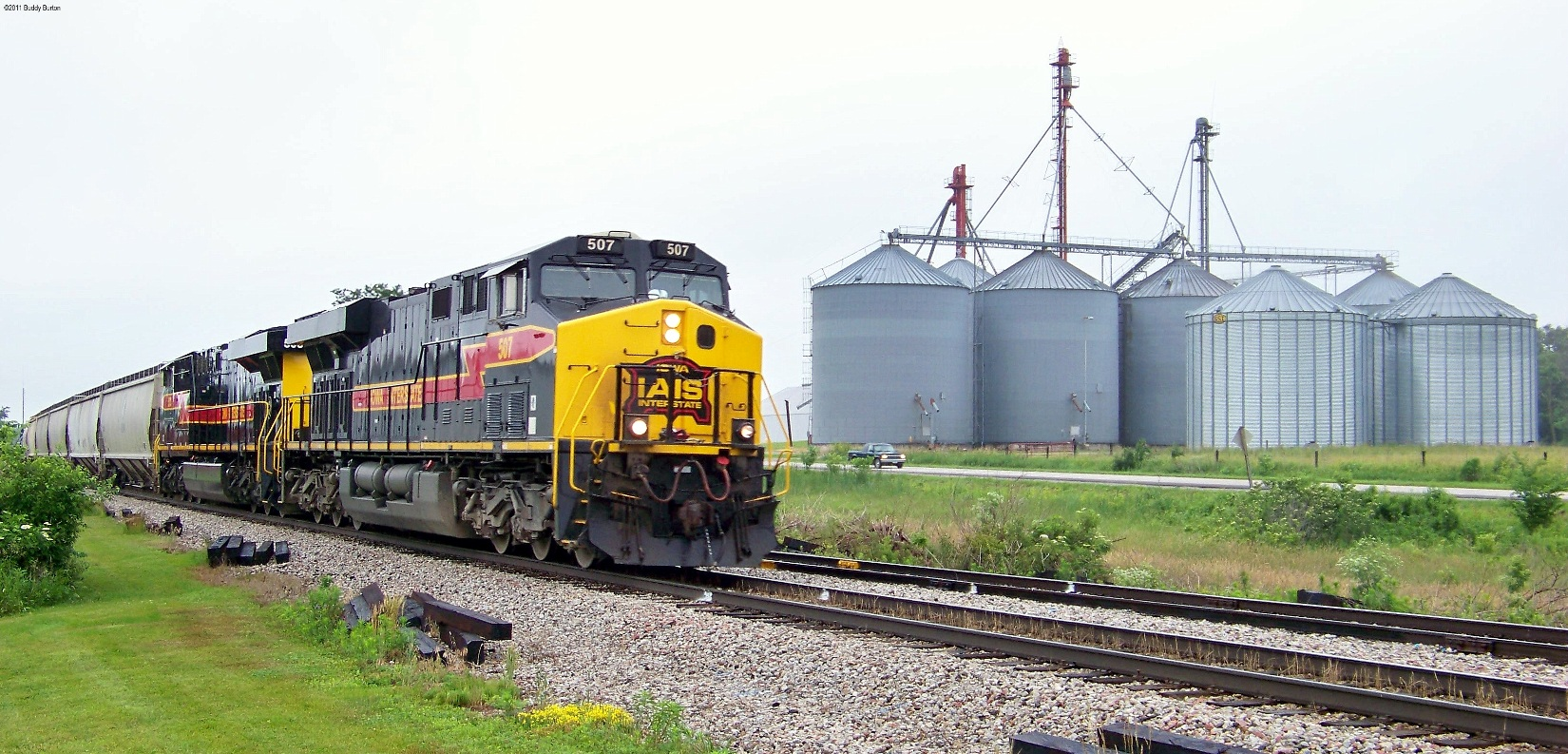 CRIC22 passing by the feed mill at Homestead. 6/22/11