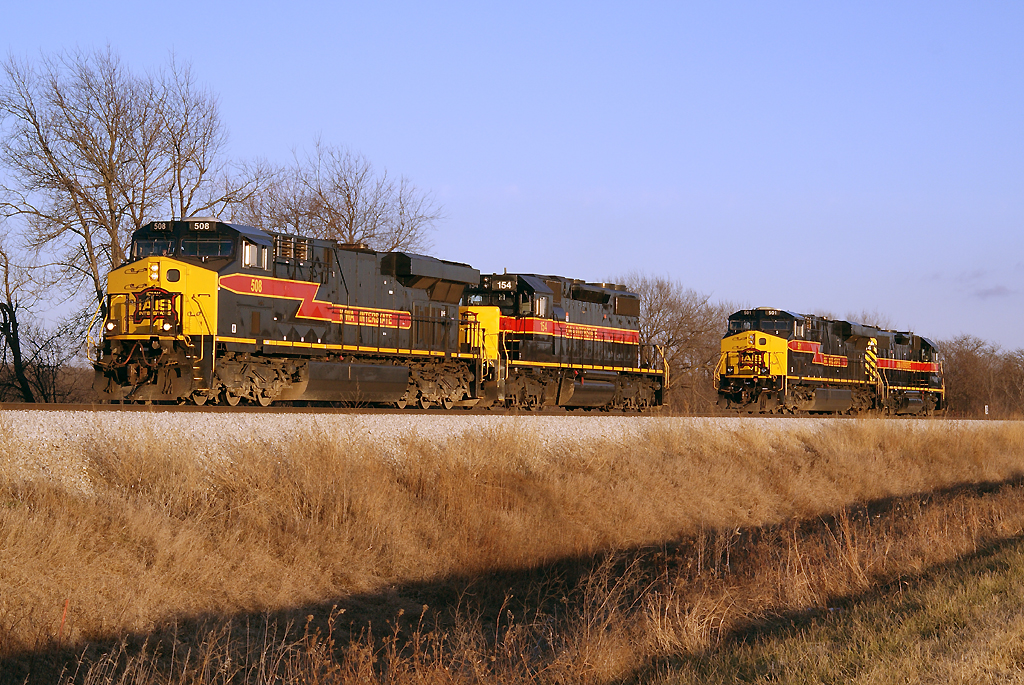 508 and 154 head for the west switch.