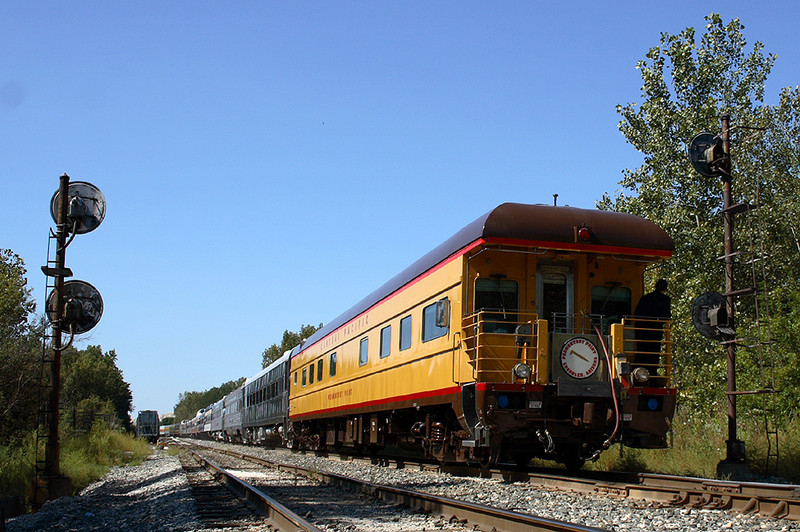 The rear end of the special leaves Rockdale, Illinois, September 16th 2007.