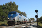 The Omaha eases westbound through the old RI crossovers at Rockdale, Illinois.  September 16th, 2007.