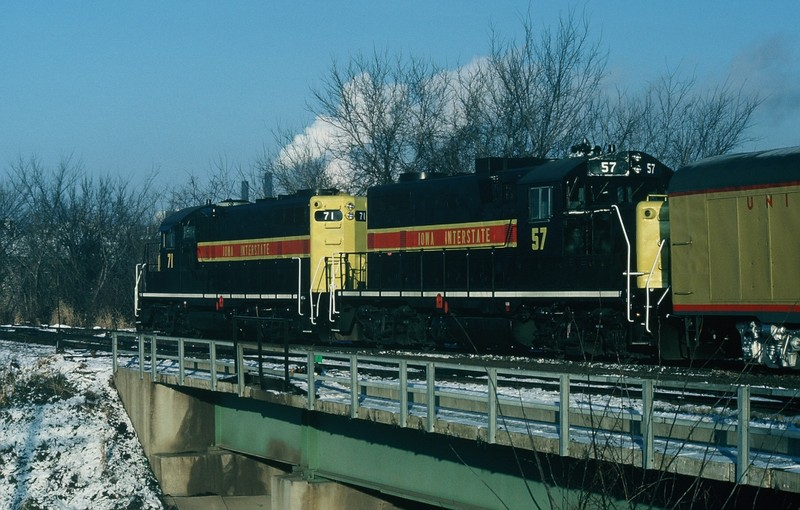 UP Inspection Train, Iowa City 21-NOV-1986