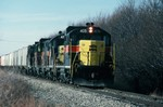 405. East bound on the CBBI outside of Des Moines. 15-Oct- 1988.