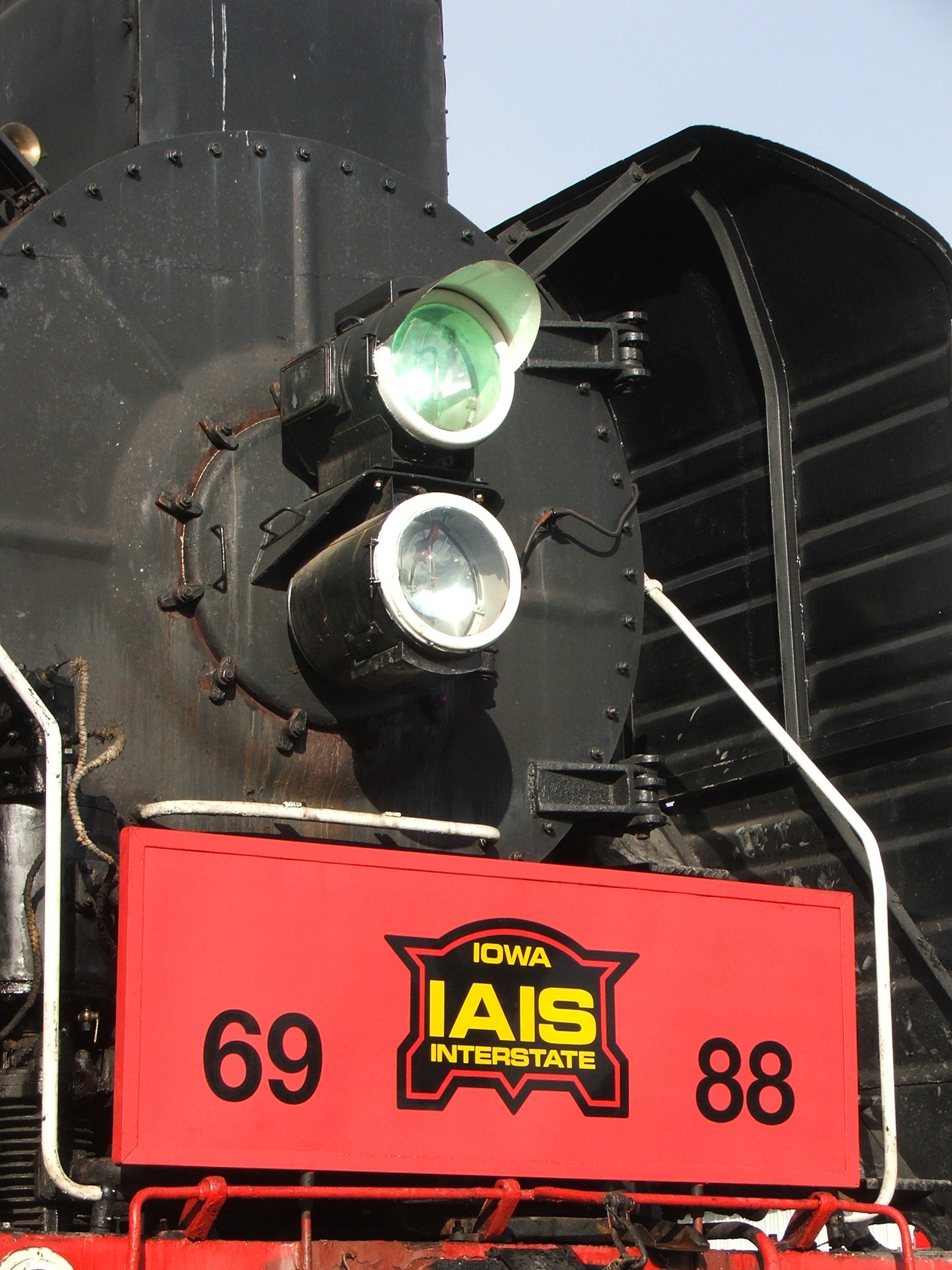The new look of the former QJ steamers... a face only a mother could love.