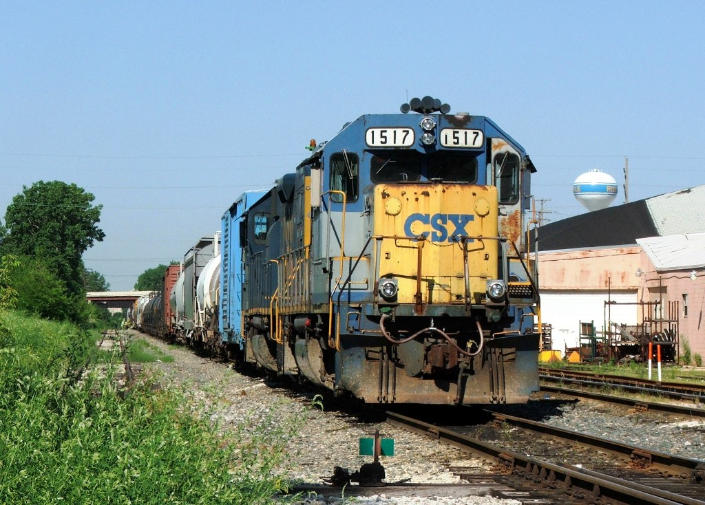 """CSX's local power lays over in their Rockdale """"yard"""""""