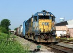 "CSX's local power lays over in their Rockdale ""yard"""