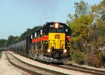 721, 716, and 708 lead a RINSU ethanol train elephant style toward BI. 10-16-05