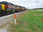Fertilizer train heading in at the east switch Twin States.