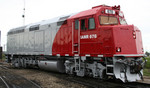 """IANR 678 for the Hawkeye Express at the Relco Shops in Joliet, IL.  Photo courtesy of """"depotdan"""" on Trainorders.com"""