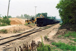 Loading sand hoppers at Chillicothe, Aug. 26, 2005.  In the background is the Santa Fe overpass.