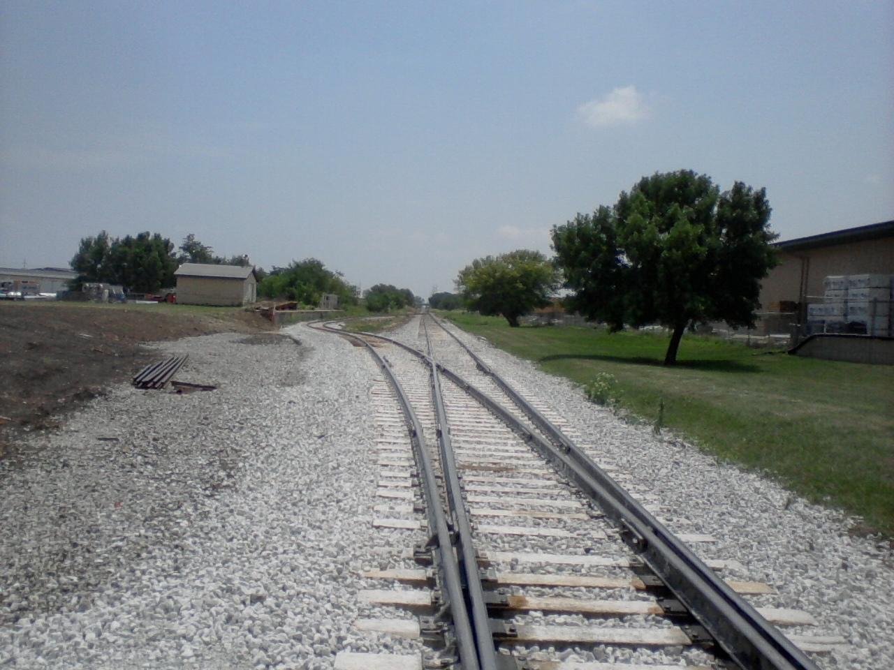 A new switch in place on the north end of the Grimes Line across from Beisser Lumber, creating a new runaround for trains on the line.