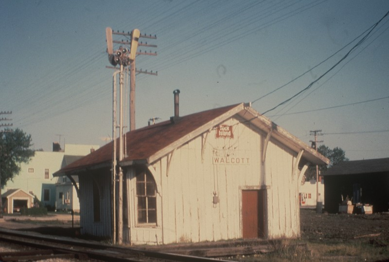 Walcott depot in the '70s.  From the Schneider collection.