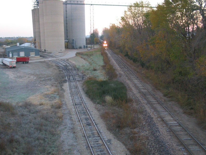 Looking east from the east overpass in Adair, Oct. 25, 2005.
